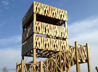 torre de madera para observatorio de aves
