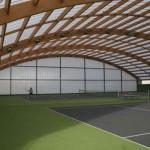 - Madera sin limites - Madera Laminada- Cubierta de campo de tenis en La Albericia - Cantabria